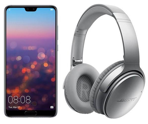 "Smartphone 6.1"" Huawei P20 Pro - Full HD OLED, Kirin 970, 6 Go RAM, 128 Go ROM + Casque Bose QuietComfort QC35 II (Frontaliers Belgique)"