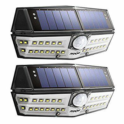 Pack 2 lampe solaire étanche 50 LED MPOW détecteur de mouvement ,panneau solaire, 1800 mah (vendeurs tiers)
