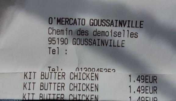 Kit de Préparation pour Butter Chicken - O'Mercato Goussainville (95)