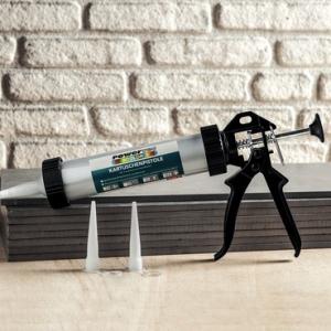 Pistolet à mastic avec tube Aluminium Powertech Color