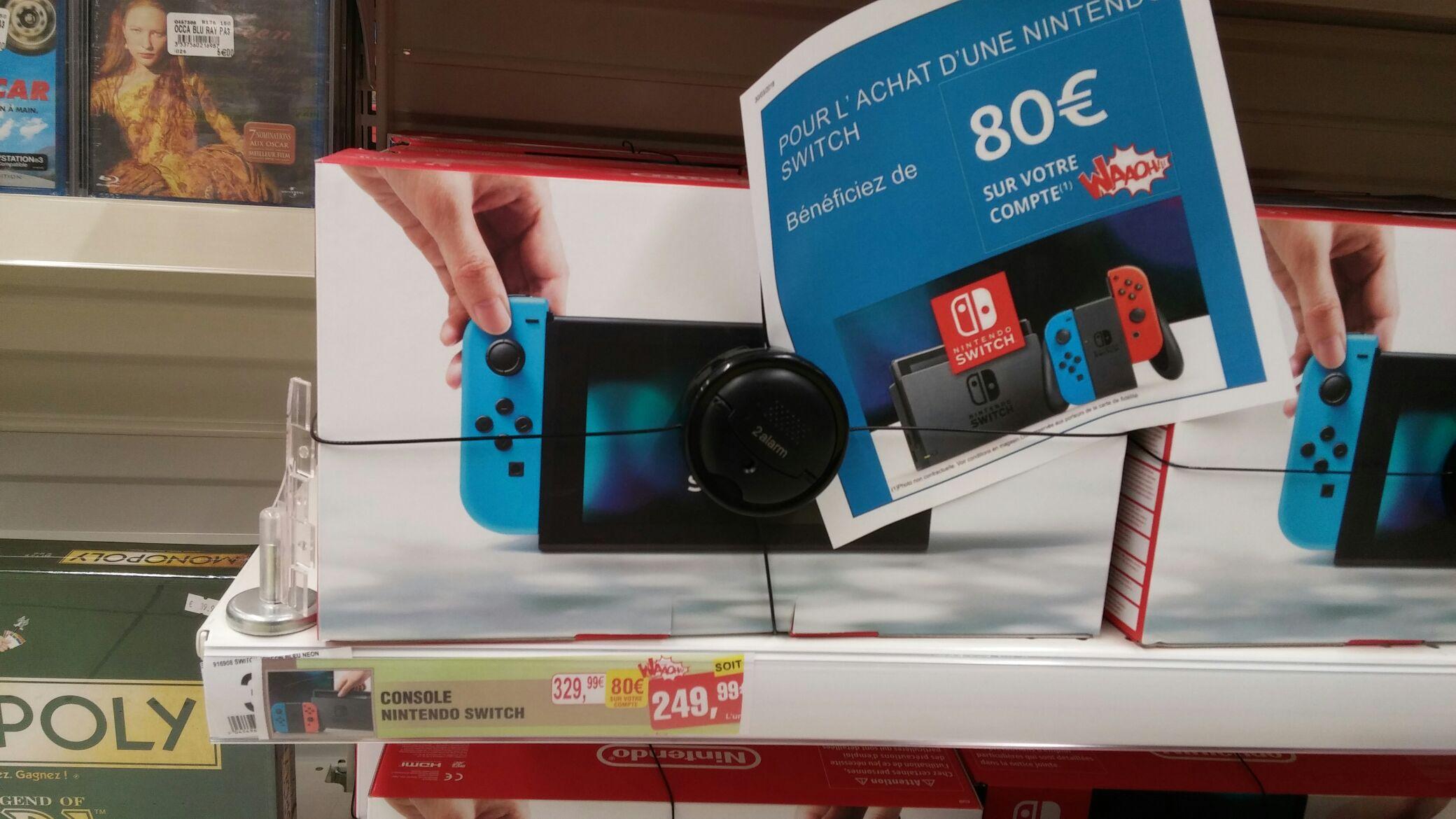 Console Nintendo Switch avec 1 Joy-Con Rouge / Bleu néon (via 80€ sur la carte fidélité) - Mâcon (71)