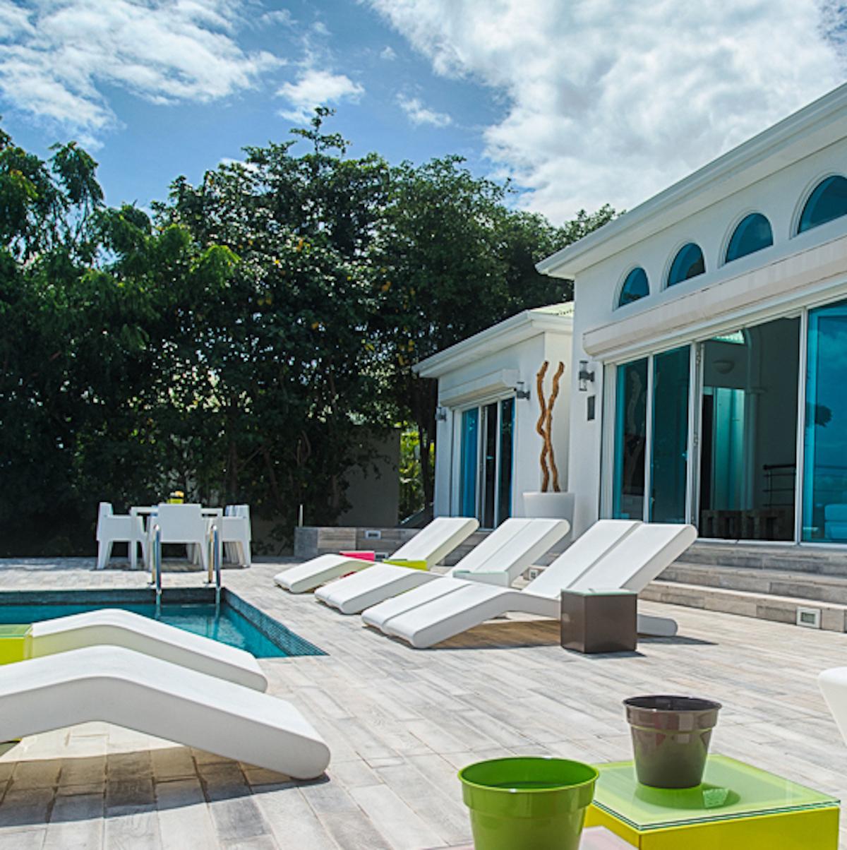 Lot de 3 Transats / Bains de soleil Wok - Design Pascal Bauer, Outdoor