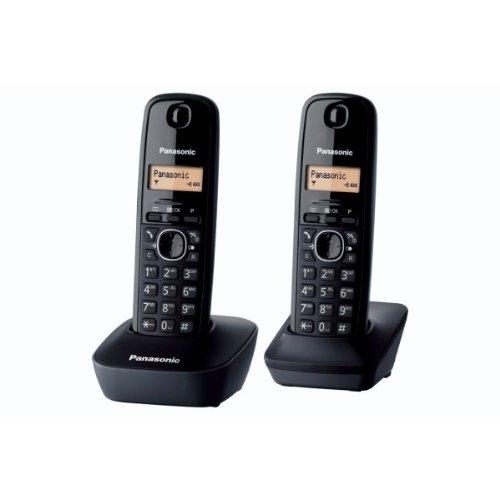 Téléphone Duo Combiné sans fil Panasonic KX-TG1612FRH DECT sans répondeur - Noir