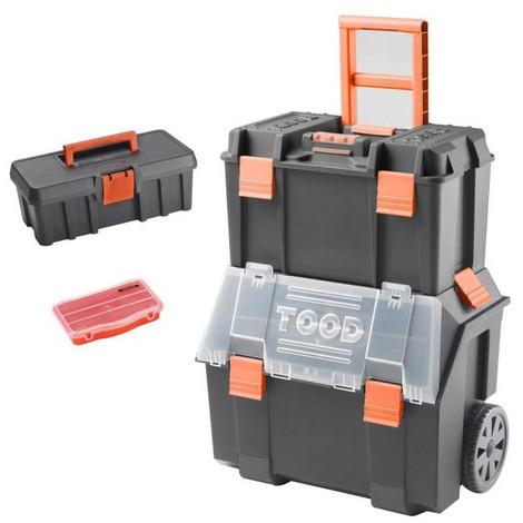 Servante sur trolley Tood  2-en-1 avec boite à outils et organiseur