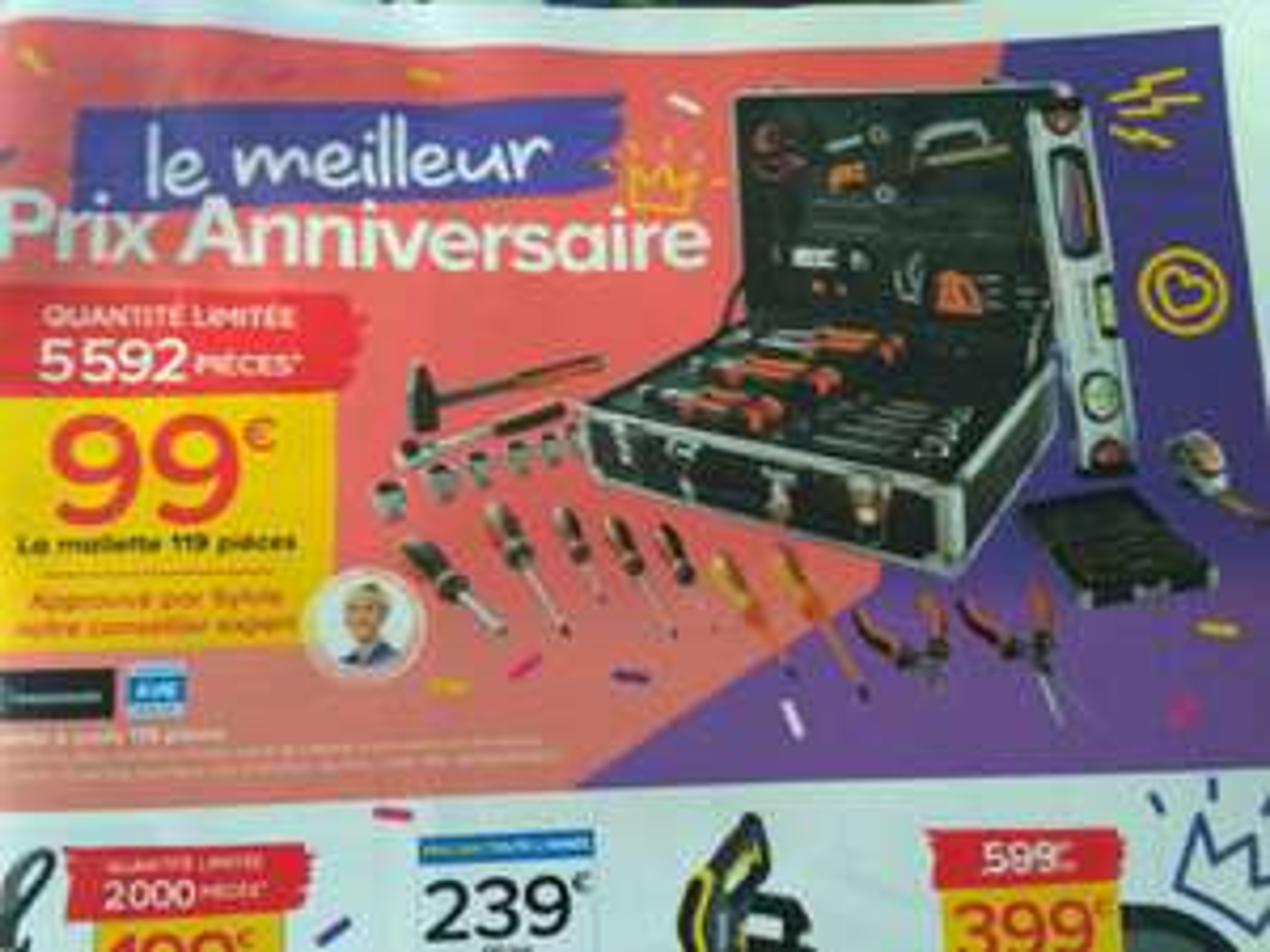 Mallette à outils Magnusson - 119 outils - garantie à vie