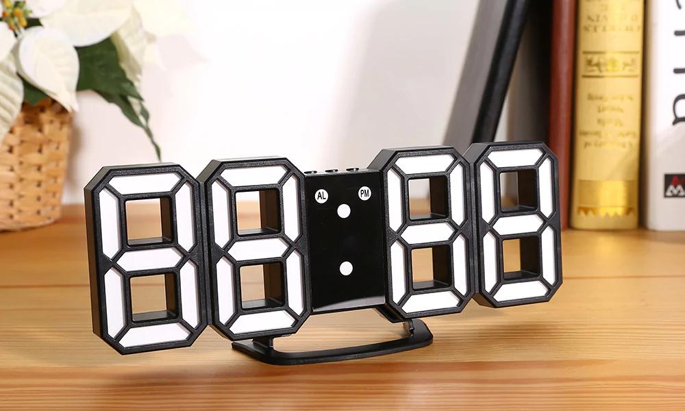 Horloge murale numérique 3D EN8810 - Noire