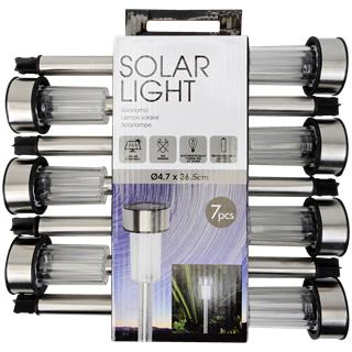 Lot de 7 Lampes de jardin LED - Solaire