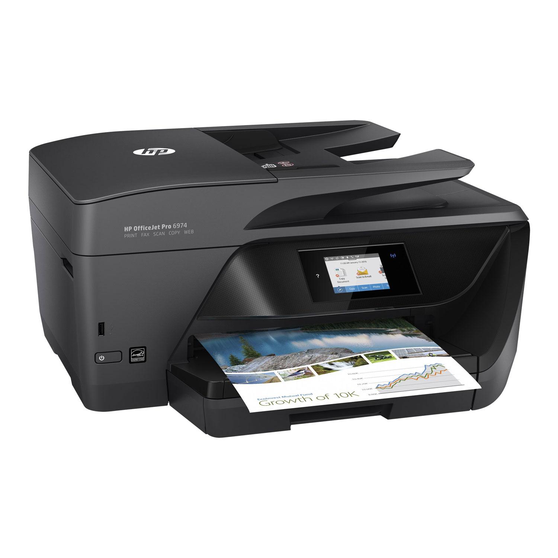 Imprimante Multifonction 4-en-1 HP OfficeJet Pro 6974 - Jet d'encre, Couleur, WiFi, Recto-Verso automatique (via ODR de 30€ + 10€)