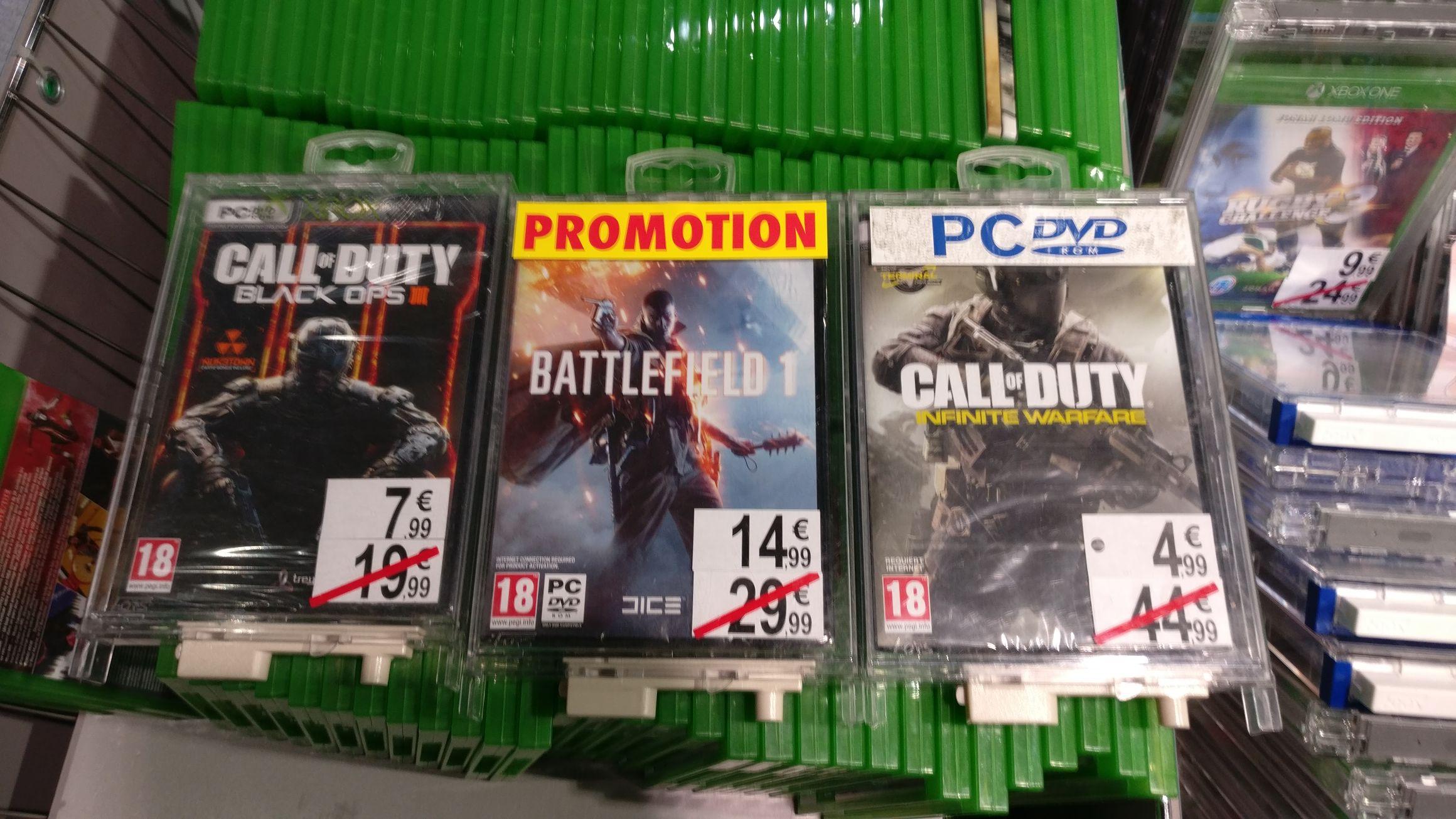 Sélection de jeux en promotion, Ex: Battlefield 1 sur PC à 14.99€ - Cherbourg La Glacerie (50)