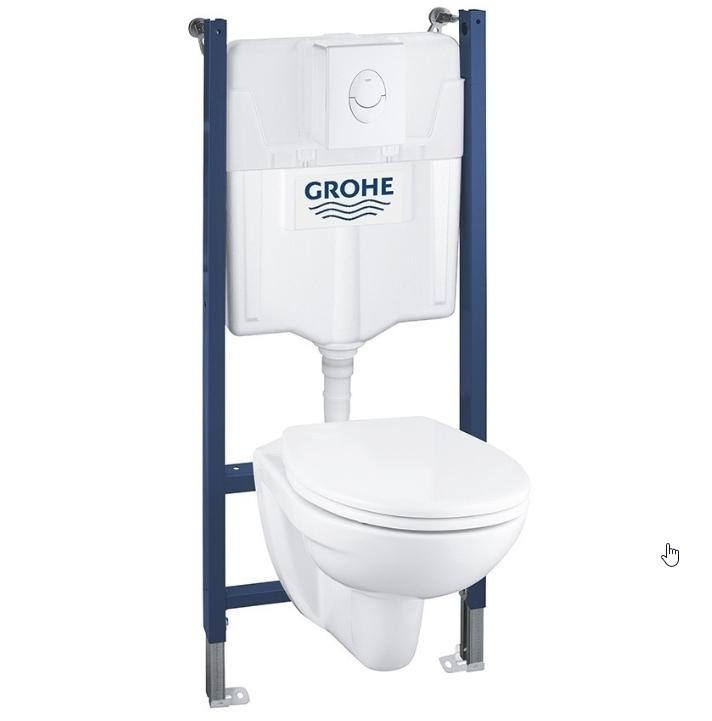 Pack bâti WC suspendu Grohe - Plaque ABS - Blanc