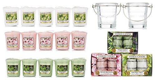 Lot de 51 Bougies Parfumées Yankee Candle + 2 Supports (vendeur tiers)
