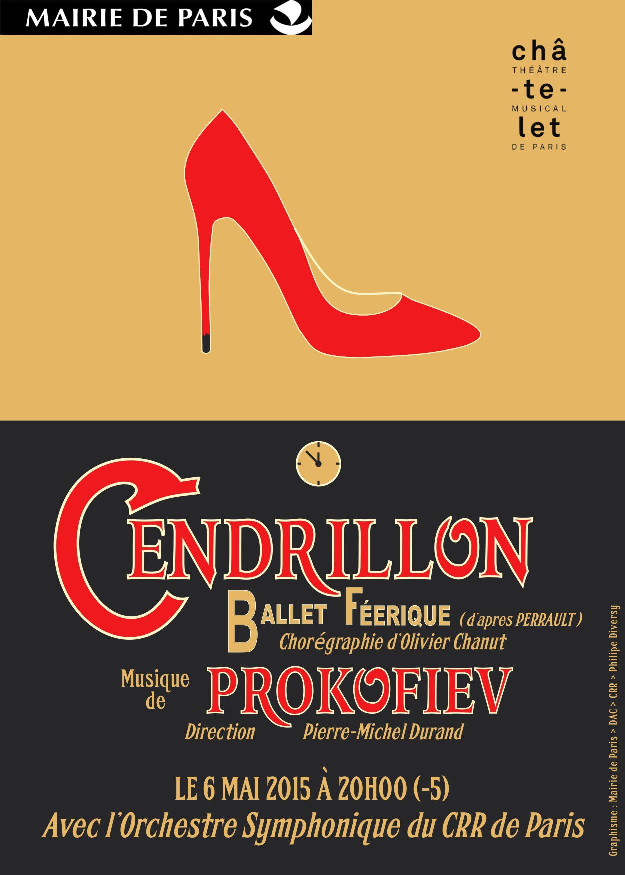 """Spectacle Le ballet """"Cendrillon"""" en entrée libre au théâtre du Châtelet - le 6 mai à 20h"""