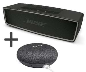Enceinte Bluetooth Bose SoundLink Mini II + Assistant vocal Google Home Mini + 3 mois Deezer Premium+ offerts