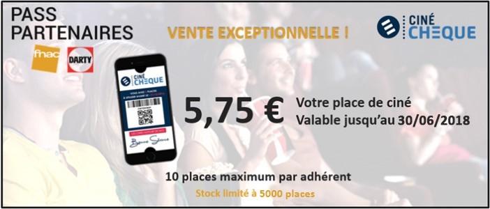 [Adhérents Fnac / Darty] Place de Cinéma Ciné Chèque dans les Cinémas participants (cine-market.fr)