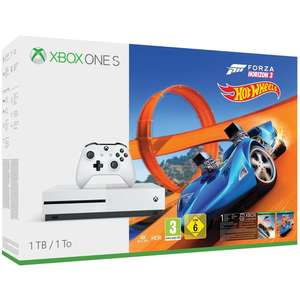 Console Microsoft Xbox One S (1 To) + Forza Horizon 3 + Extension Hot Wheels