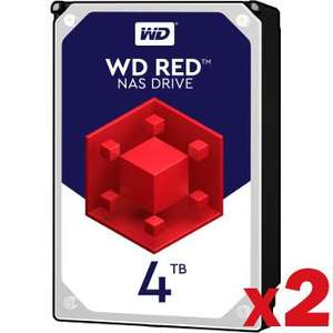 "Lot de 2 Disques durs internes 3.5"" Western Digital (WD) Red - 2x 4 To"
