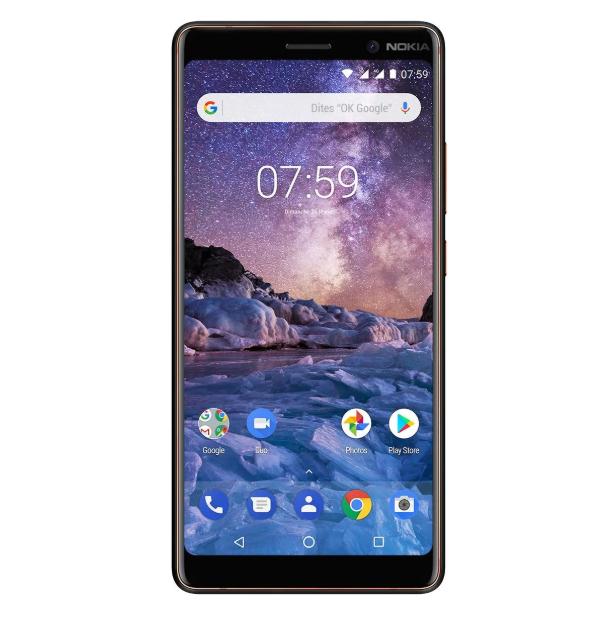 "[Précommande] Smartphone 6"" Nokia 7 Plus - Full HD+, Snapdragon 660, 4 Go RAM, 64 Go ROM, Android One, 4G + Casque JBL T450BT (via formulaire)"