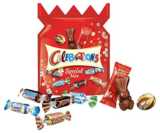 50% de réduction sur une sélection de chocolats - Ex: Lot de 6 Celebrations Mix Spécial Pâques (1.36Kg)