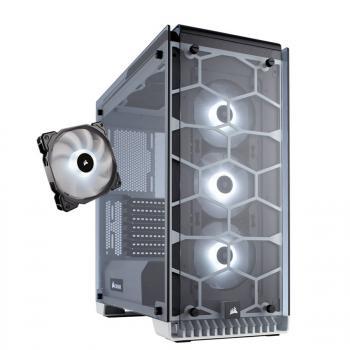 Boitier pour PC Corsair Crystal 570X RGB Blanc + Ventilateur SP120 RGB