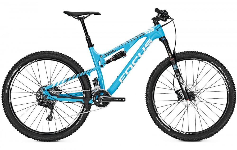 """VTT 27.5"""" Focus Spine C Lite (2017) - Cadre carbone, Shimano XT / SLX (Bleu ou Noir) - à Rabe-bike.de"""