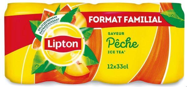 Pack de 12 Canettes Ice Tea Lipton - 12x33cl (via 3.78€ sur la carte)