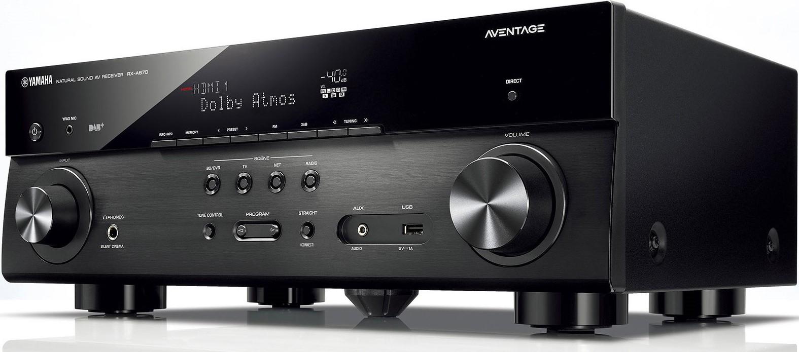 Amplificateur Home Cinéma 7.2 Yamaha Aventage RX-A670 - Wifi, Bluetooth, Dolby Atmos 5.2.2, DTS:X