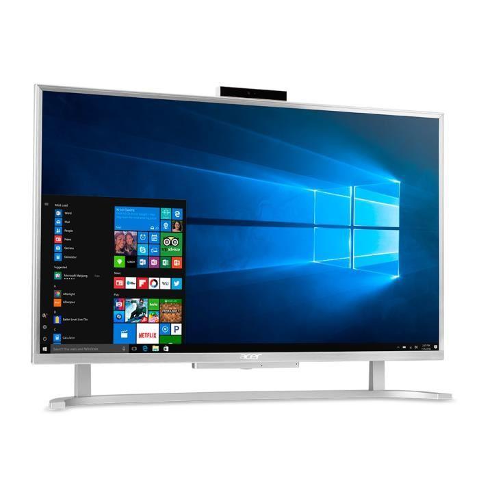"PC tout-en-un 23.8"" Acer Aspire C24-760 - Full HD, i3-7100U, RAM 4 Go, HDD 1 To, Windows 10"