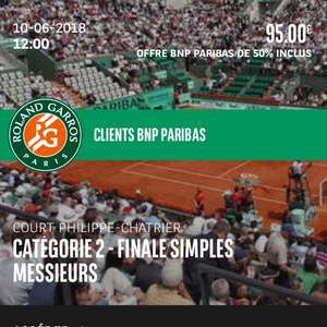 [Clients BNP Paribas ] De 15 à 50% de réduction pour vos places à Roland Garros