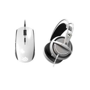 Pack SteelSeries Gaming: Casque Siberia 200 + Souris Rival 100 Blanc