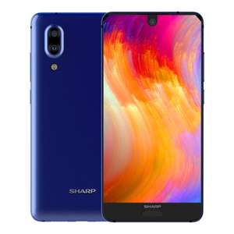 "Smartphone 5.5"" Sharp Aquos S2 - FullHD+, 4Go RAM, 64Go ROM, 4g (b3/b7/b28), borderless, Snapdragon 630"