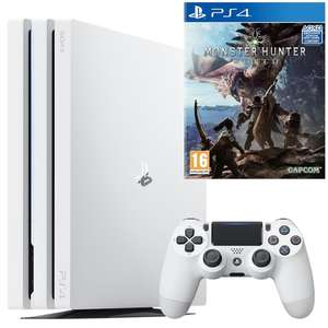 Pack Console PS4 Pro (Blanc) - 1To + Monster Hunter World