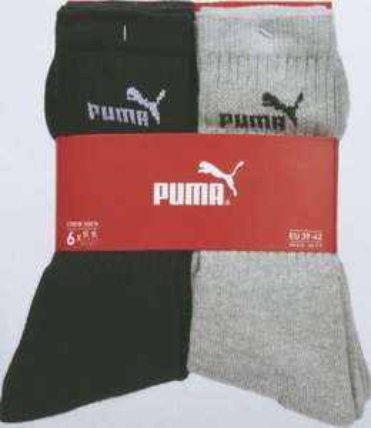 Lot de 6 Paires de Chaussettes Puma