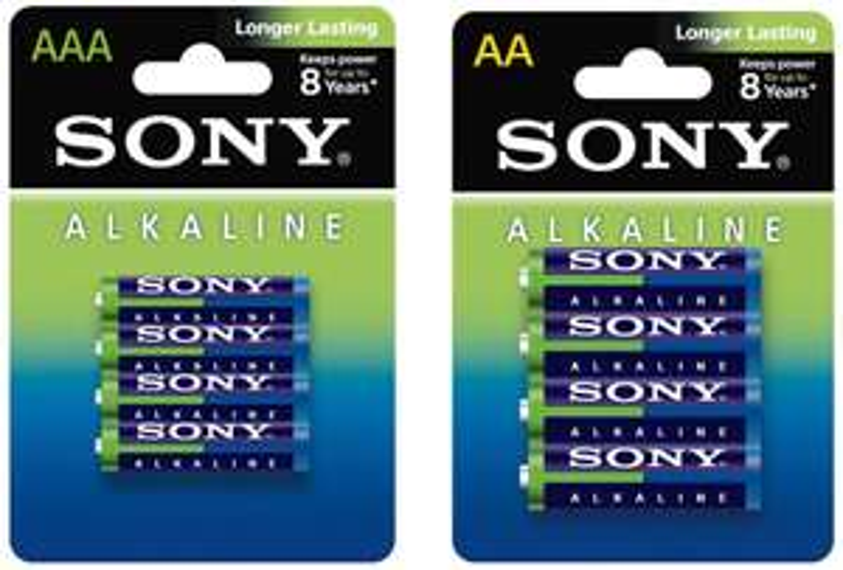 Pack de 60 piles alcalines Sony : 32 LR06 AA + 28 LR03 AAA