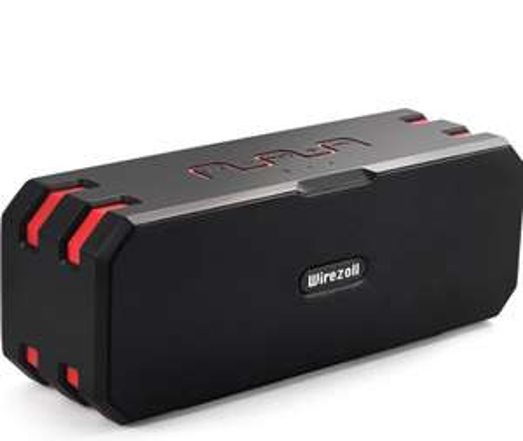 Enceinte bluetooth Wirezoll - Etanche et résiste à la poussière, 20W, carte SD, 6000mah, Bluetooth 4.1(Vendeur tiers)