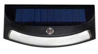 Lampe solaire étanche - 8 LED, détecteur de mouvement