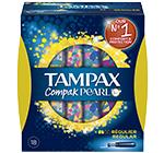 Tampons Tampax Compak Pearl ( -40% immédiat + 2€ BDR )