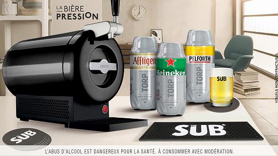 Coffret Heineken avec Tireuse à bière Krups The Sub