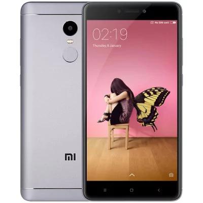 """Smartphone 5.5"""" Xiaomi Redmi Note 4 Gris - 4G (B20), RAM 3 Go, ROM 32 Go (Entrepôt France)"""