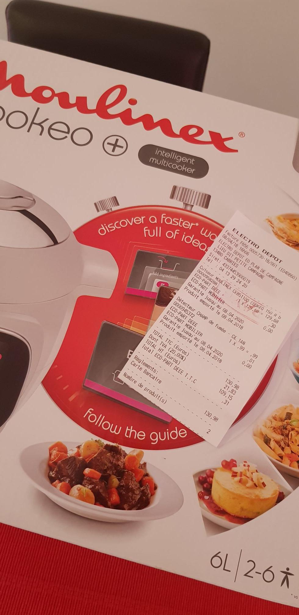 Cuiseur Moulinex Cookeo+ CE851100 - 150 Recettes, Blanc - Plan de Campagne (13)