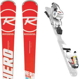 Pack Ski Rossignol Hero All Turn 2018 + Fixation Xpress 11 B83 Rouge/blanche - Taille 163cm