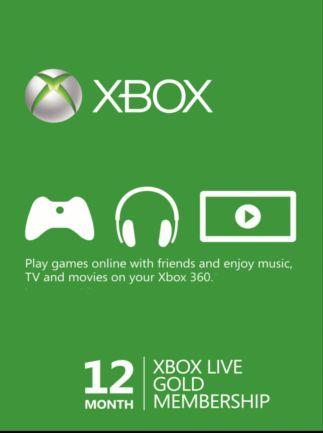 Abonnement Xbox Live Gold pour 12 mois (dématérialisé)