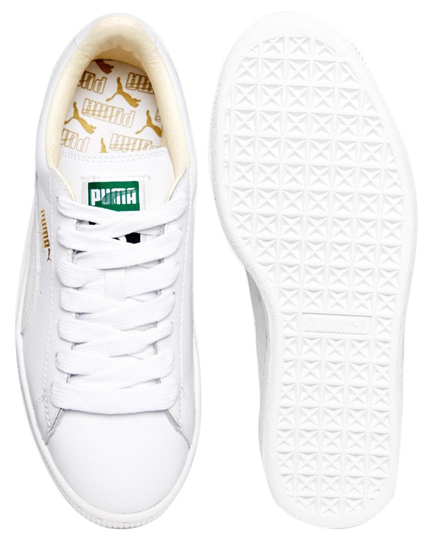 Paire de baskets femme Puma blanches