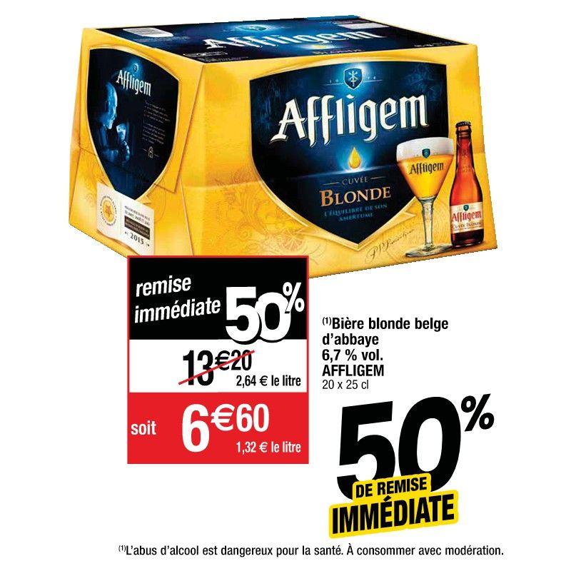 Bière blonde d'Abbaye Affligem - 20x25