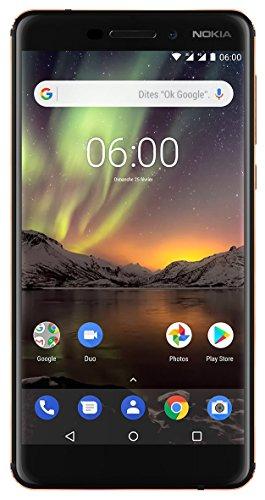 """Smartphone 5.5"""" Nokia 6.1 - 4G, IPS, IP52, Snapdragon 630, 3 Go de RAM, 32 Go de ROM, Noir"""