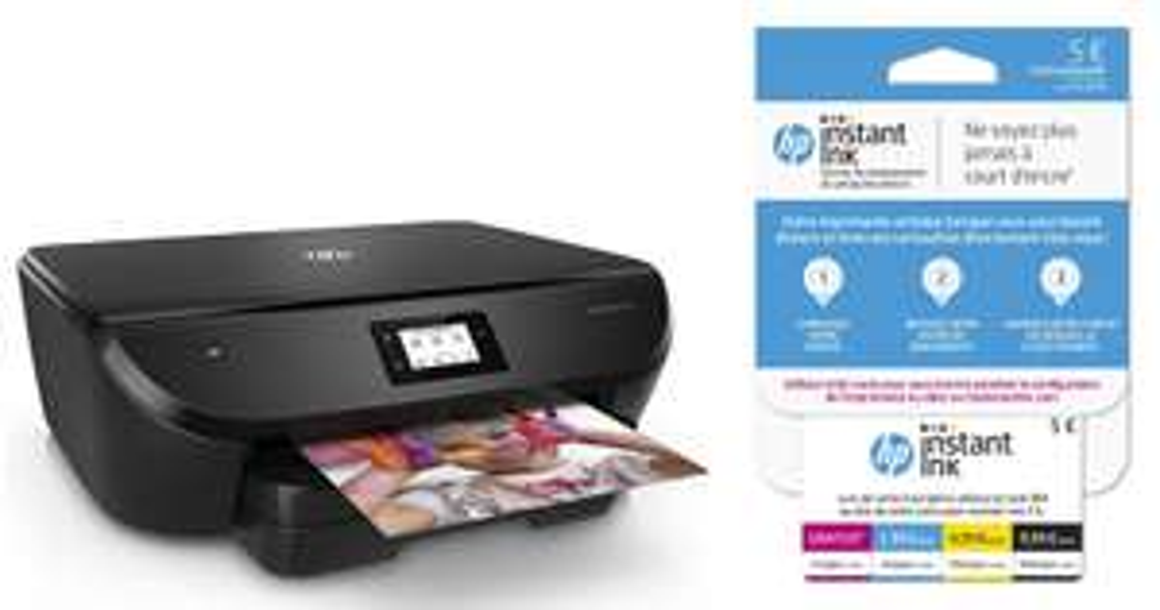 Imprimante Multifonction HP Envy Photo 6230 - Jet d'encre, Couleur, Wi-Fi, Numérisation, Recto/Verso automatique + Carte Instant Ink 5€ (via ODR de 30€ + 10€)