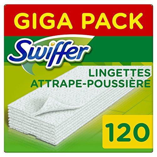 3 Packs de 40 lingettes Attrape poussière Swiffer (120 lingettes)