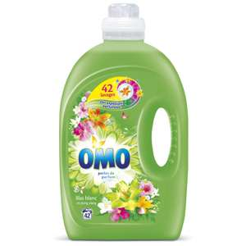 Lessive Liquide Omo Lilas Blanc - 2L (Plusieurs variétés - via 6.23€ sur la carte de fidélité)