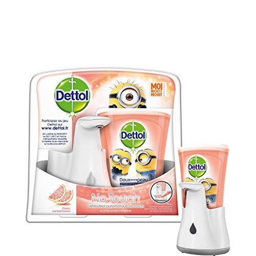 Distributeur Automatique de savon Dettol No Touch + Recharge parfum Pamplemousse - 250 ml