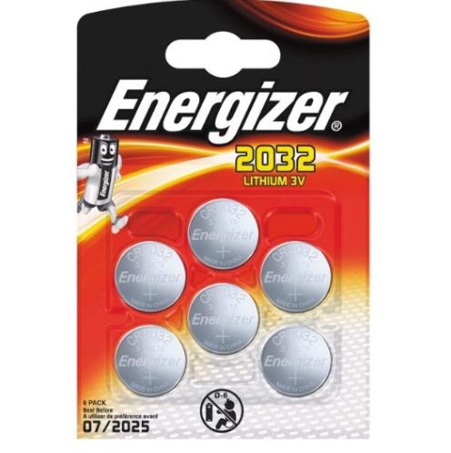 Sélection de Piile Energizer - Ex : 6 Piles CR2032