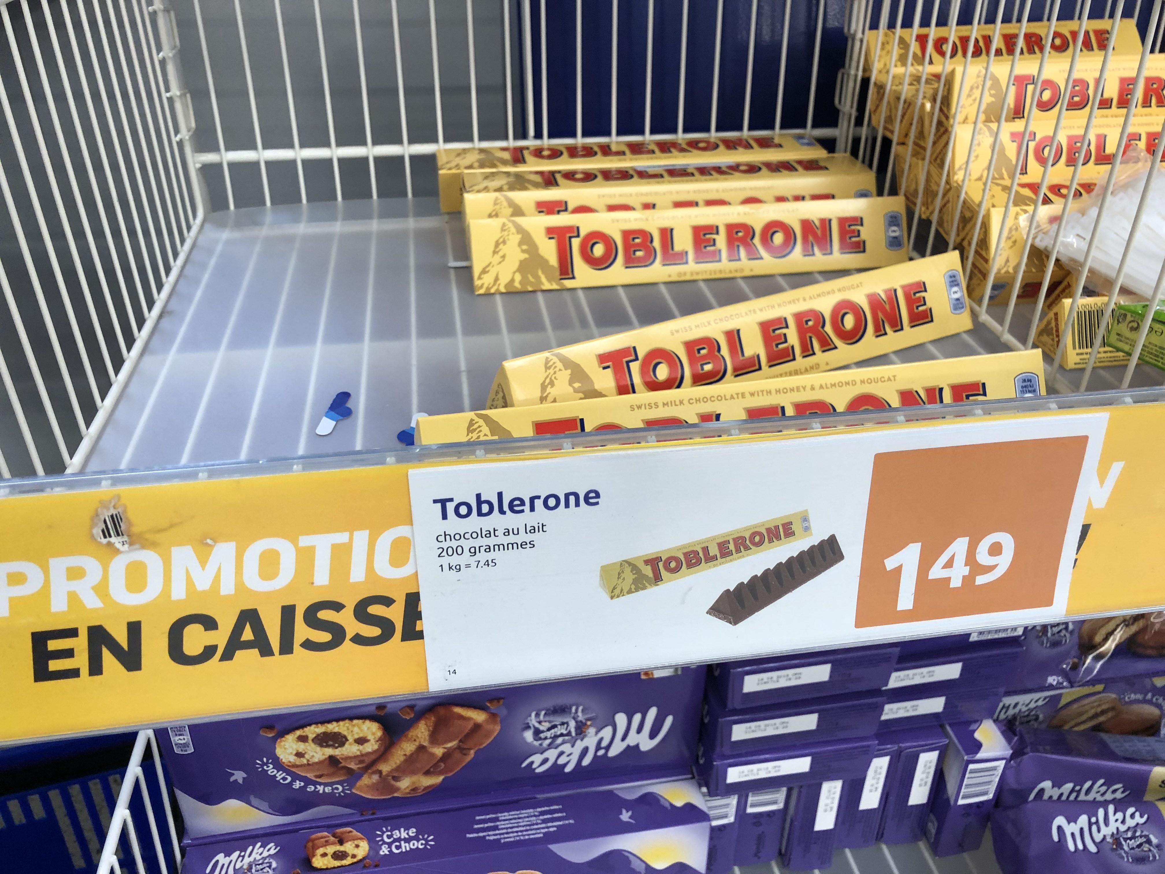 Chocolat au lait Toblerone - 200g - La Rochelle (17)